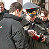 The letter to the Russian president was handed at the Russian embassy in Belarus on the Day of Solidarity of the Russian and Belarusian Nations, on 2 April. [Press for large view]