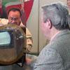 Белорусское телевидение привлекало внимание посетителей раритетным телевизором. [Нажмите для увеличения]